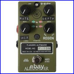 Alexander F-13 Neo Flanger Guitar Effects Pedal F. 13 Stompbox F13 Army Green