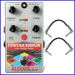 Alexander Pedals Syntax Error Glitch Guitar Effects Pedal with Patch Cables