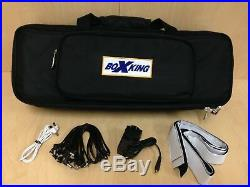BoxKing 12800mAh POWERED Rechargeable Guitar Effect Pedalboard+Padded Bag PB4813