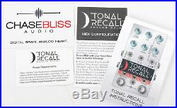 Chase Bliss Audio Tonal Recall Analog Delay Guitar Effect Pedal Serial #958 MINT