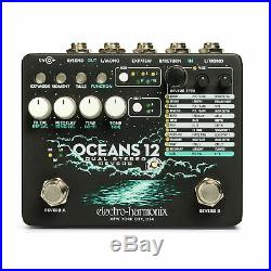 EHX Electro Harmonix Oceans 12 Dual Stereo Reverb Guitar Effects Pedal