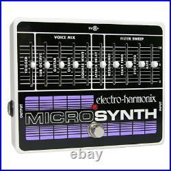 Electro-Harmonix MicroSynth Guitar Effects Micro Synthesizer Guitar Effect Pedal