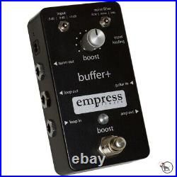 Empress Effects Buffer+ Plus Guitar Effect Pedal with Noise Filters Input Pads