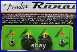 Fender Runaway Feedback Expression Guitar Effect Pedal RARE Green/Silver withBox