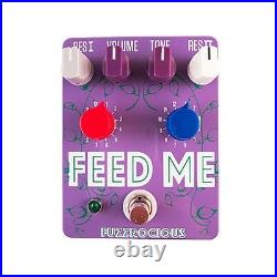 Fuzzrocious Pedals Feed Me V2 EQ/Preamp/Tone Shaper Guitar Effects Pedal Purple
