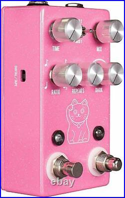 JHS Lucky Cat Delay Guitar Effects Pedal, Pink