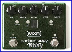 MXR Carbon Copy Deluxe Analog Delay Guitar Effects Pedal M292 Extended Delay