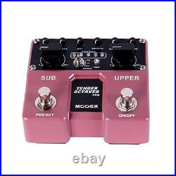 Mooer Tender Octaver Pro Octave Guitar Effects Twin Pedal Stompbox Footswitch