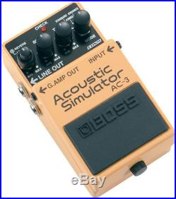 New Boss AC-3 Acoustic Simulator Guitar Effects Pedal! With Hosa Cables