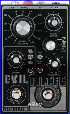 New Death By Audio Evil Filter Fuzz Guitar Effects Pedal with Cables