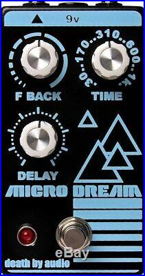 New Death By Audio Micro Dream Lo-Fi Delay Guitar Effects Pedal