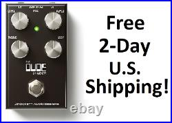 New J Rockett Audio Designs The Dude V2 Overdrive Guitar Effects Pedal
