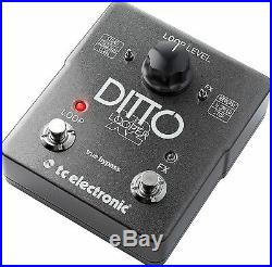 New TC Electronic Ditto X2 Looper Guitar Loop Effects Pedal