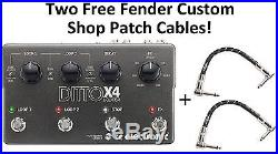 New TC Electronic Ditto X4 Dual Track Looper Guitar Effects Pedal