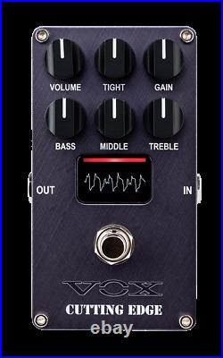 New Vox Valvenergy Cutting Edge Preamp High Gain Distortion Guitar Effects Pedal