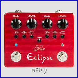 Suhr Eclipse Dual Channel Overdrive/Distortion Guitar Effects Pedal + Picks