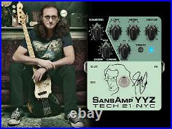 Tech 21 Geddy Lee Signature SansAmp YYZ Bass Guitar Effect Pedal with 3 Band EQ