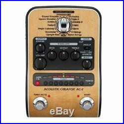 Zoom AC-2 Acoustic Guitar Model Creator Enhanced Direct Box Effects Pedal