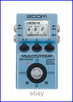 Zoom MS-70CDR Multi-Effects Multistomp Guitar Pedal with Chorus, Delay, Reverb